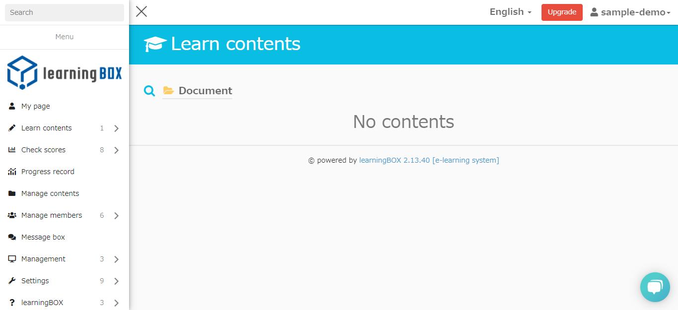 learningBOX-Publishing settings