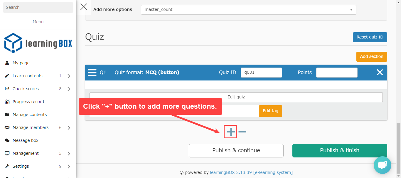 -Content Management Question Creation Form or Add Question