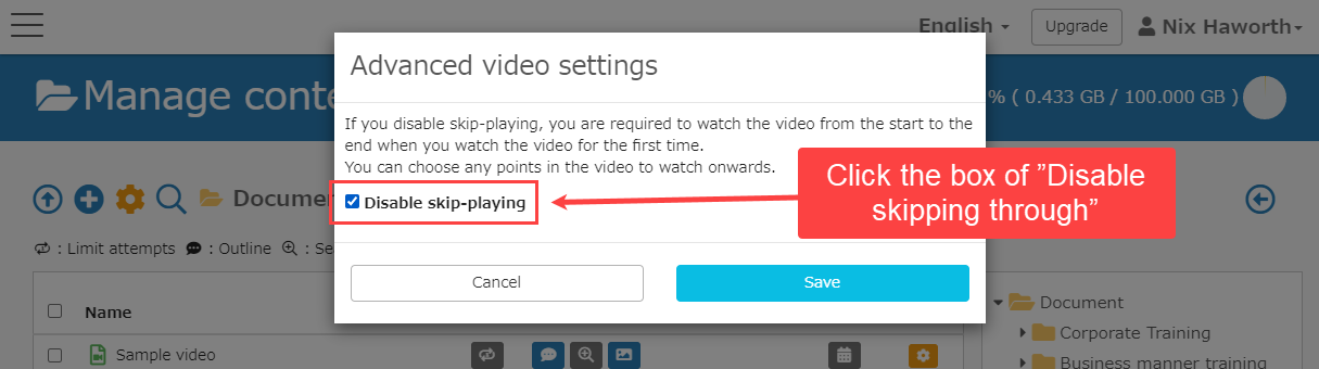 learningBOX - How to upload a video