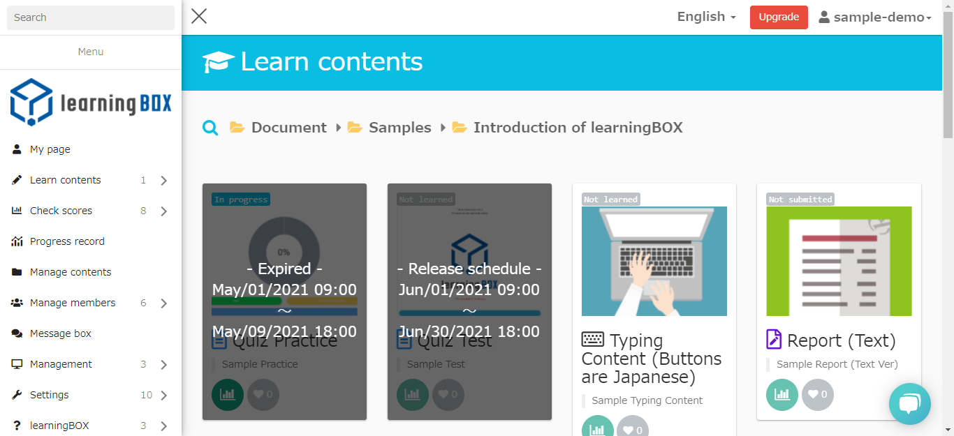 learningBOX - Setting a publishing period for your content