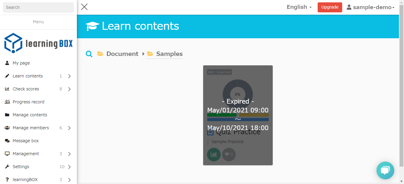 learningBOX-How to set the release period