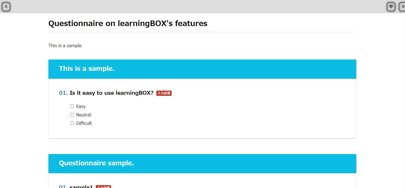 learningBOX-Make a survey