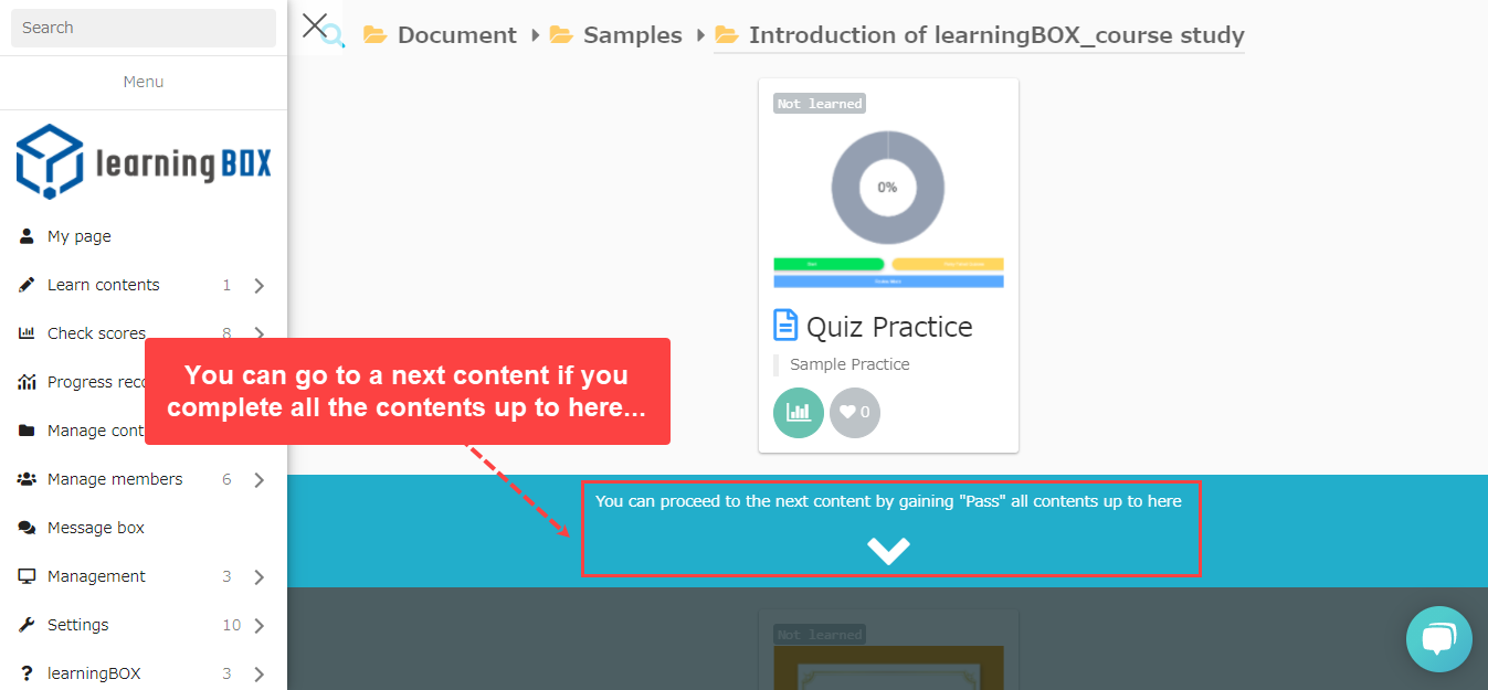 Learning control function-learningBOX