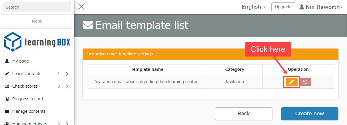 learningBOX - How to use the email templates