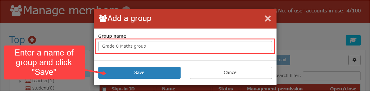 learningBOX - How to register a group name - eLearning