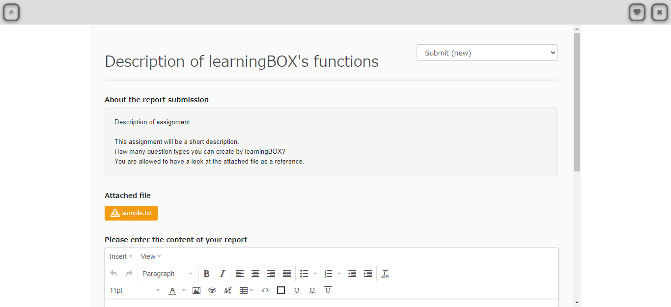 learningBOX-Report
