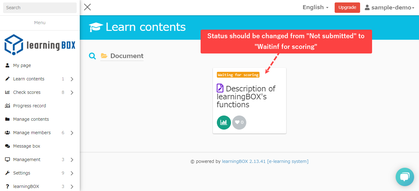 E-learning System - Report Assignment Function