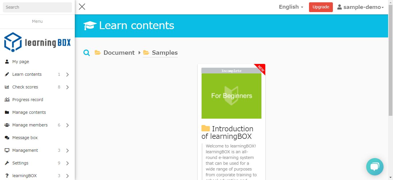 learningBOX-Initial materials