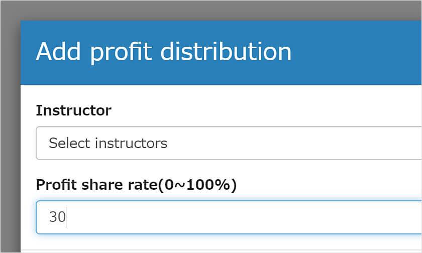Revenue allocation settings
