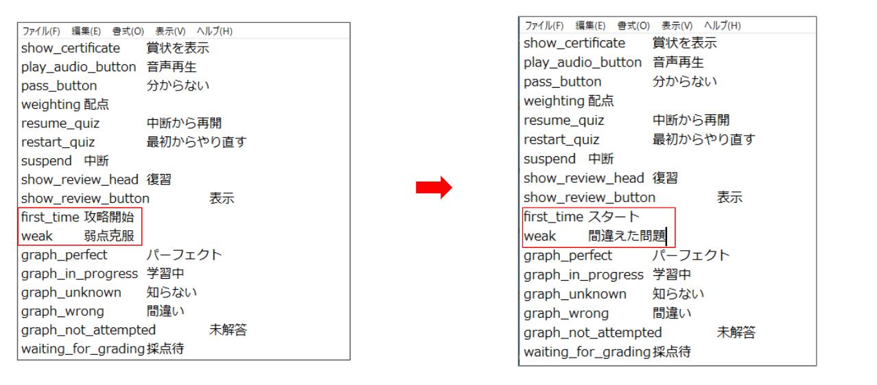 文言の変更 | 使い方について | eラーニングシステムのlearningBOX