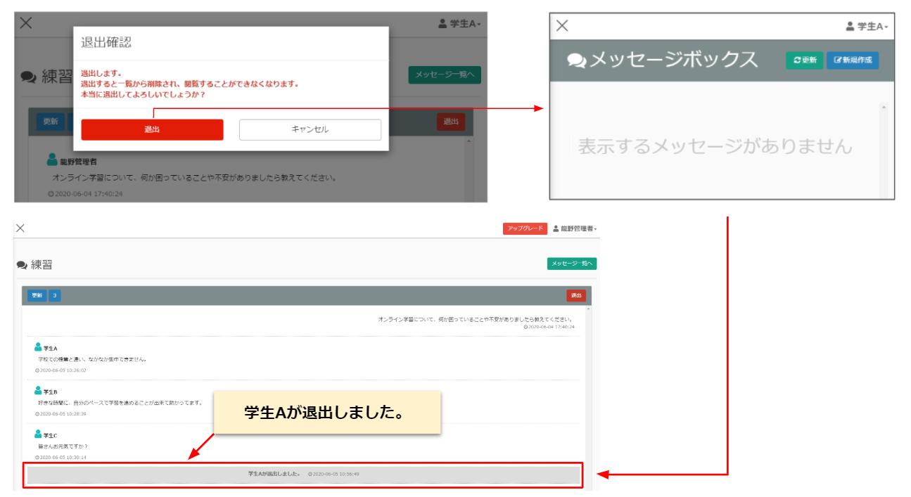 オンライン学習-メッセージボックス