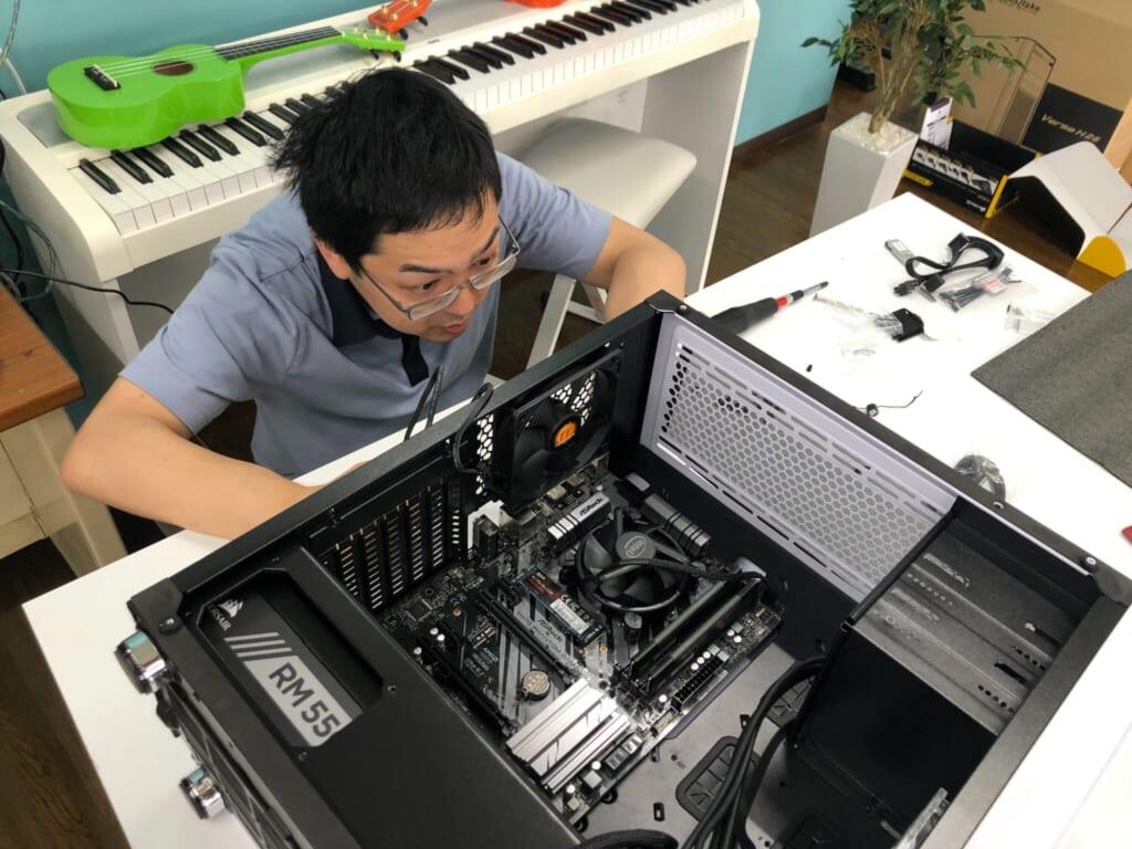 パソコン組み立て